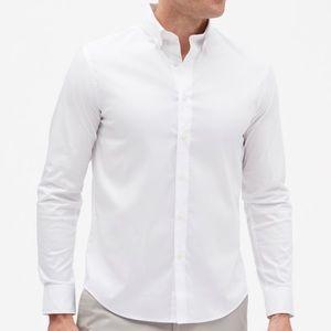 Banana Republic Slim Fit Tech Shirt (White)